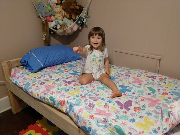 Recipient of a donated bed